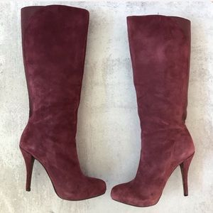 Enzo Angiolini Yabbo Suede Knee High Boots 8